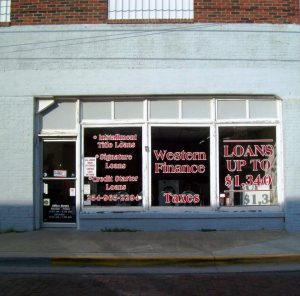 Western Finance Storefront in Stephenville, tx