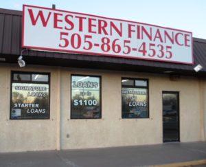 Western Finance Storefront in Los Lunas, nm