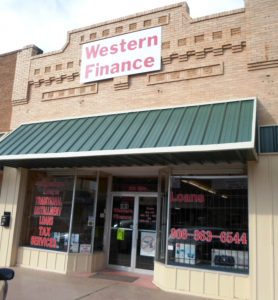 Western Finance Storefront in Hereford, tx