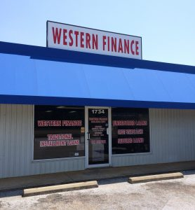 Western Finance Storefront in Jacksonville, tx