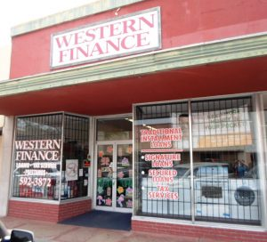 Western Finance Storefront in Kingsville, tx