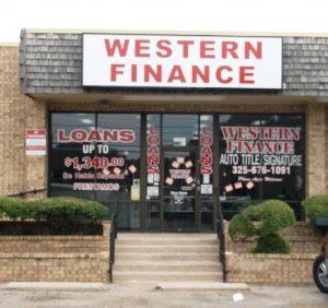Western Finance Storefront in Abilene, tx