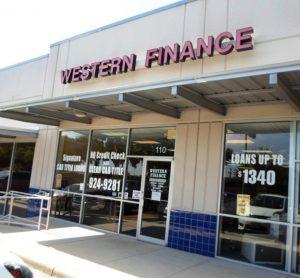 Western Finance Storefront in San Antonio, tx