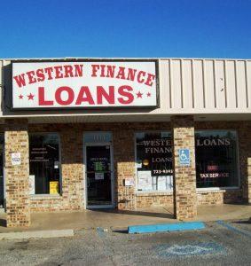 Western Finance Storefront in Wichita Falls, tx