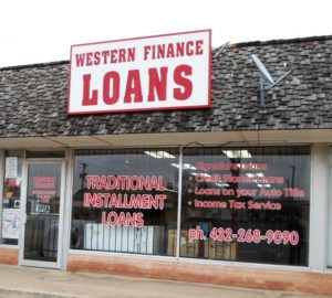 loans in and around Big Spring, TX