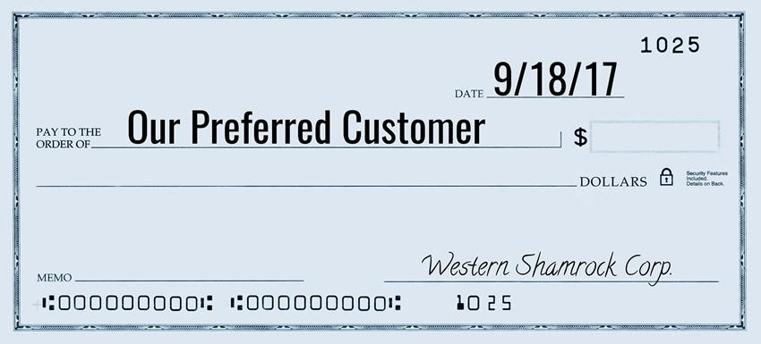Preferred Customer Check