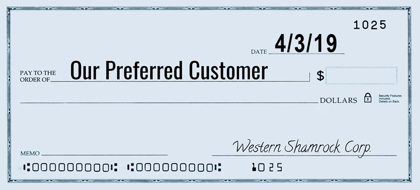 Preferred Customer Check